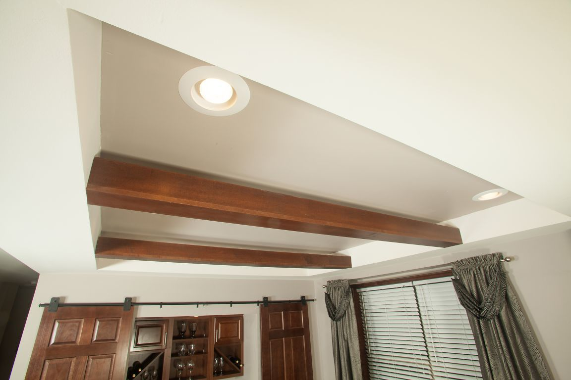 Tray Ceiling Tray Ceiling With Dropped Beams R Anell Homes