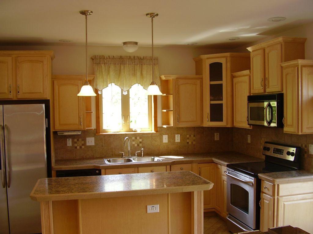 Kitchen Design Ideas With Oak Cabinets staggered kitchen cabinets staggered cabinets   houzz adorable