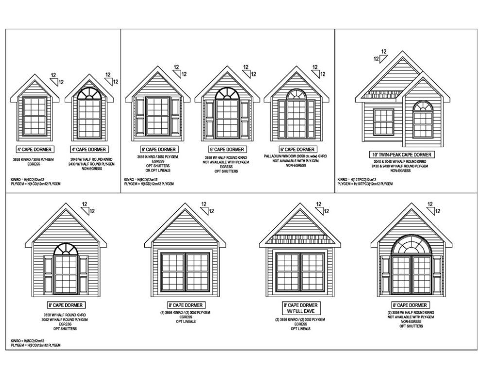Roof Dormers For 12 12 Roofs R Anell Homes