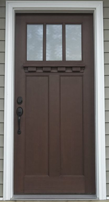 Opt Mahogany 3 Panel Mission Style R Anell Homes