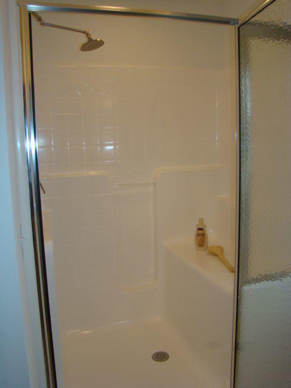 Fiberglass Shower | R-Anell Homes