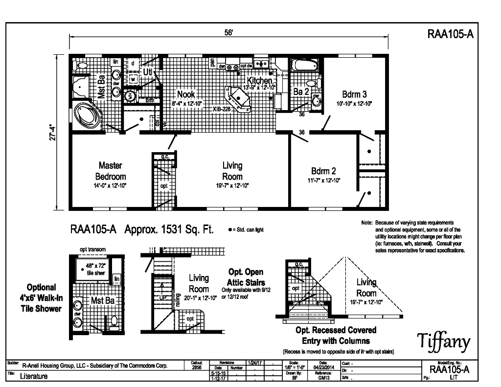 Summit - Tiffany - RAA105A   Find a Home   R-Anell Homes